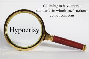 Hypocrisy Concept